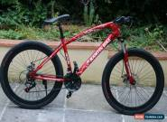 "26""  RED  beach city  Bicycle Mountain Cruiser Bike 21 Speed  not fat folding for Sale"