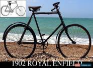 1902 ROYAL ENFIELD ROADSTER (Original Palmer Tyre!) Vintage antique Bicycle  for Sale