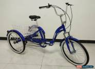 "ADULT TRICYCLE, FOLDING, 24"" WHEELS, 6 SPD SHIMANO, BLue, adult trike, triciclo for Sale"