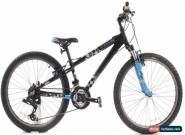 "USED 2010 Trek MT 220 24"" Kids Mountain Bike 3x7 Speed Grip Shift Black Blue for Sale"