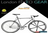 "Classic London FIXED GEAR ""3-Speed Veloce"" Internal Gears Fixie for Sale"