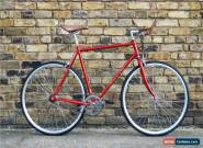 Hackney Club Vintage Single Speed bike Fixed Gear / fixie Road Bikes red for Sale