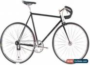 USED BLB London Large 58cm Steel Track Fixed Gear Bike Black for Sale