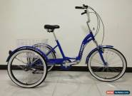 """ADULTS TRICYCLE, SUSPENSION, 24"""" WHEELS, 6 SPD SHIMANO, BLUE, adult trike, for Sale"""