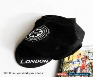 Classic Rare LONDON Couriers Fund Cycling Cap-Black/White-Road Bike-Retro-Medium-M-L for Sale