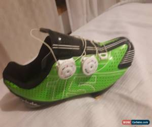 Classic Spiuk 15RC road shoes, lime green. for Sale