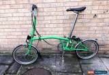 Classic Brompton M3L Fold Up Bike - Green - 3 Speed for Sale