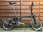 BROMPTON S-TYPE S3R BLACK WITH CARRIER FOLDING BIKE CYCLE - WORLDWIDE POSTAGE for Sale