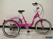 "ADULTS TRICYCLE, SUSPENSION, 24"" WHEELS, 6 SPD SHIMANO, PINK, adult trike, for Sale"