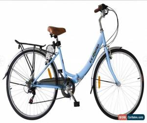 "Classic Ecosmo 26"" Wheel Folding Ladies Women City Bicycle Bike 7 SP, 17"" -26ALF08B for Sale"