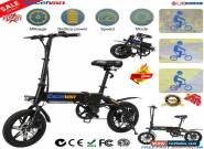 "Electric Bike E-Bike Collapsible Moped Bicycle City Bike 250W 14"" Wheel 25Km/h for Sale"