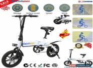 E-bike Folding Electric Bike Moped Bicycle City Bike 250W 14inch Wheel Max25km/h for Sale