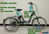 """Classic ADULTS ELECTRIC TRICYCLE, FOLDING, 24"""" WHEELS, 6 SPEED, GREEN, adult trike, for Sale"""