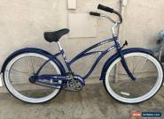 Beautiful Navy blue Electra single speed beach cruiser bike w fenders for Sale