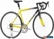 USED 2001 Giant TCR 2 Medium Aluminum Road Bike Shimano 105 2x9 speed Yellow for Sale