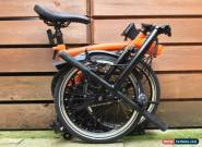 BROMPTON S-TYPE S2L ORANGE BLACK EDITION FOLDING BIKE CYCLE - WORLDWIDE POSTAGE for Sale