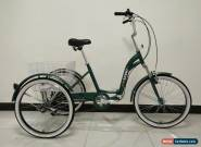 "ADULT TRICYCLE, FOLDING, 24"" WHEELS, 6 SPD SHIMANO, GREEN, adult trike, triciclo for Sale"