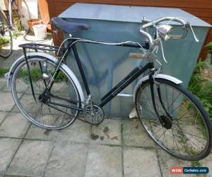 Classic RALEIGH SPORTS 1950S PATH RACER  BROOKS SADDLE  RACING BIKE MILLER LAMPS VINTAGE for Sale