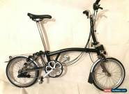 Brompton M6L-X Titanium 6 Speed Black folding bike WORLDWIDE SHIPPING! DEMO BIKE for Sale