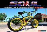 Classic Soul Beach Cruiser UK Fat Tyre Yellow Team Stomper American Big Bicycle Bike  for Sale