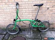 Brompton M3L Fold Up Bike - Green - 3 Speed for Sale