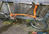 Classic Superlight Brompton S6LX with titanium seatpost/frame/forks and wide range gears for Sale