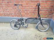 Brompton S6l folding bike in Black shipping worldwide available  for Sale