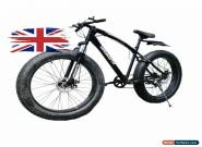 Mammoth FAT TYRE Mountain BIKE BLACK With Gears 7 Adult Top Seller UK FT03-UK33 for Sale
