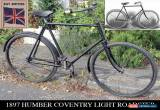 Classic 1897 HUMBER COVENTRY LIGHT ROADSTER Antique Vintage Bicycle  for Sale
