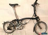 Brompton S6L-X Titanium 6 Speed Blue folding bike WORLDWIDE SHIPPING! DEMO BIKE for Sale