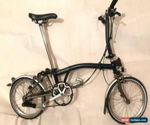 Classic NEW DEMO Brompton S6L-X Titanium 6 Speed Blue folding bike WORLDWIDE SHIPPING!  for Sale