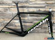 Mint! 2018 Cervelo R5 Carbon Road Frameset 54cm Rim Brake Black/Fluoro 700c for Sale