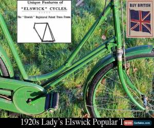 Classic 1920s Lady's Elswick Popular Truss Vintage Bicycle (Gents' available separately) for Sale