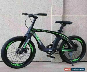 "Classic DOUBLE DISC Brake 20"" Kids Mountain Bike Green & Black magnesium alloy frame for Sale"
