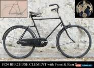1924 BERCEUSE CLEMENT - Front & Rear Suspension! Vintage Antique Bicycle for Sale