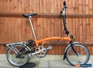 BROMPTON H6R 6 ORANGE AND BLACK FOLDING BIKE BICYLE - WORLDWIDE SHIPPING for Sale