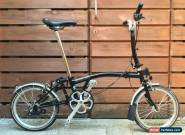 BROMPTON M-TYPE M3L BLACK 3 SPEED FOLDING BIKE BICYCLE - WORLDWIDE POSTAGE for Sale