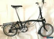 Brompton M3R,RACK 3 Speed Black folding bike GOOD CONDITION, WORLDWIDE SHIPPING for Sale