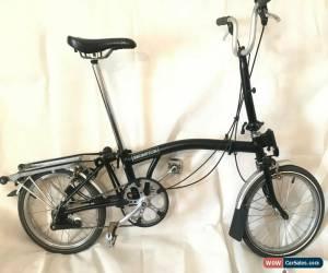 Classic Brompton M3R,RACK 3 Speed Black folding bike GOOD CONDITION, WORLDWIDE SHIPPING for Sale