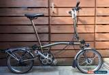 Classic BROMPTON H-TYPE H6R-X TITANIUM RAW 6 SPEED FOLDING BIKE - WORLDWIDE POSTAGE for Sale