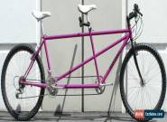 "USED Santana Picante Steel Mountain Tandem 20/18"" Shimano Deore XT 3x7 26"" Pink for Sale"