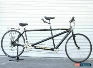 USED Vintage Cannondale Med/Small Flat Bar Road Aluminum Tandem Black 3x7 Speed for Sale