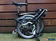 BROMPTON M-TYPE M3L BLACK 3 SPEED FOLDING BIKE BICYCLE - WORLDWIDE POSTAGE for Sale