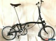 Brompton H3L Black 3 Speed Folding Bike + Brooks Saddle + WORLDWIDE SHIPPING for Sale