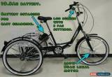 """Classic ADULTS ELECTRIC TRICYCLE, FOLDING, 24"""" WHEELS, 6 SPEED, BLACK, adult trike,  for Sale"""