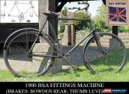 1900 BSA FITTINGS MACHINE Brakes: Bowden rear/Thumb Lever front Vintage Bicycle  for Sale
