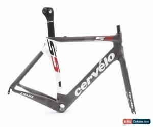 Classic USED 2014 Cervelo S5 VWD Carbon Aero Road Bike Frameset 51cm Gray/White Road Tri for Sale