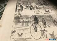 Antique George Witherby Penny Farthing bicycle 1880 Graphic drawing original for Sale