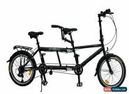 "Ecosmo 20"" Wheel New Folding Steel Tandem Bicycle Bike 7 Speeds - 20TF01BL for Sale"