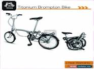Ti Atom/3 speed 2019 Titanium Brompton Folding Bike  for Sale